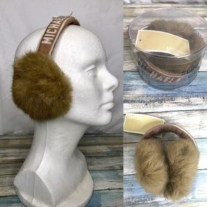 Michael Kors wool and rabbit fur earmuffs NWT